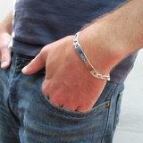 Armband met naam heren 925 Zilver_