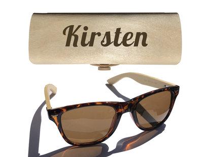 Dames zonnebril graveren