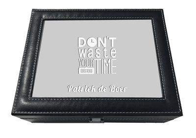 Horlogebox met naam 10 vaks