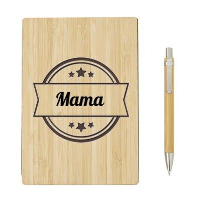 Bamboe notitieboek met pen