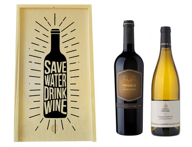 Wijnkist met wijnen graveren